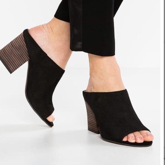 Franco Sarto Firefly Heel Mule Black